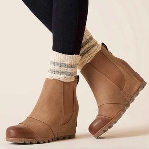 Sorel Lea Wedge Boots Elk Curry